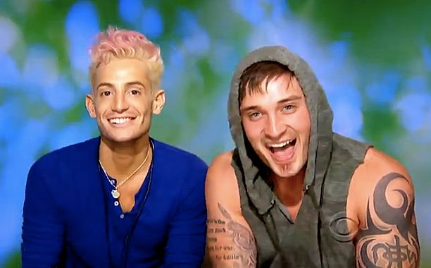 Gay contestant with famous sister gets humped and spanked by Caleb Reynolds
