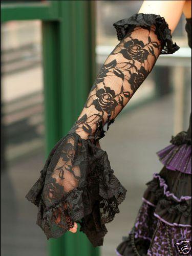 Sales Gothic Lolita Cosplay Glove $25 BB Black | eBay