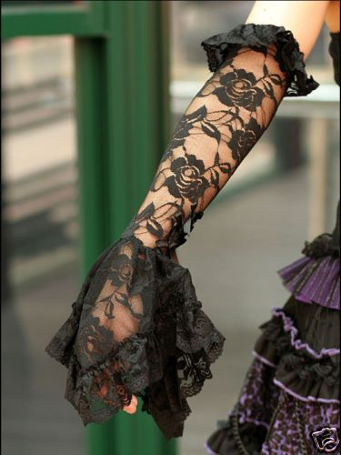 Sales Gothic Lolita Cosplay Glove $25 BB Black | eBay