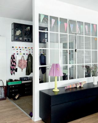 window for separating mudroom -- love it