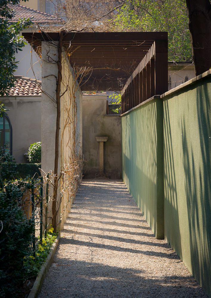 Garden Shadows, Villa Necchi Campiglio, Milan, Italy Set of I Am Love with Tilda Swinton