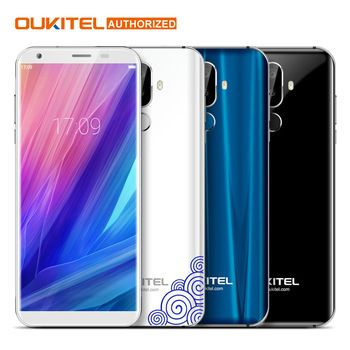 "Oukitel K5 5.7"" 18:9 Display MTK6737T Mobile Phone Android 7.0 2G RAM 16G ROM Quad Core 4000mAh 3 Cameras Fingerprint Smartphone  Price: 90.43 USD"