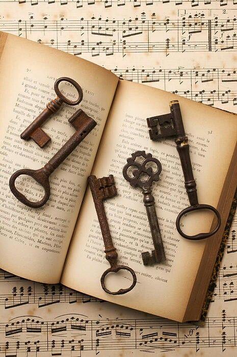 Five Old Keys Print by Garry Gay