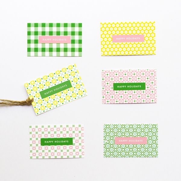 FREE Patterned Holiday Gift Tags