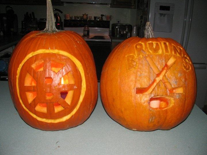 Boston Bruins Pumpkins