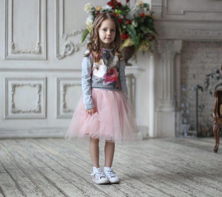 Юбка из фатина на девочку с чем носить