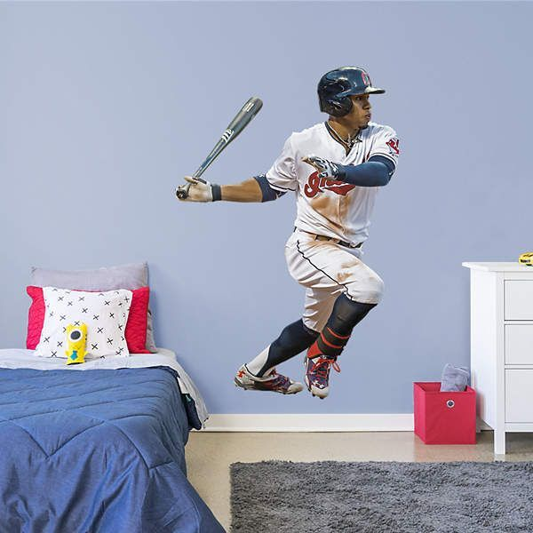 the latest 9fb62 cea8e Fathead Cleveland Indians Francisco Lindor Wall Decal in ...
