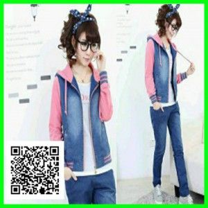 jaket chery jeans combi babyterry3