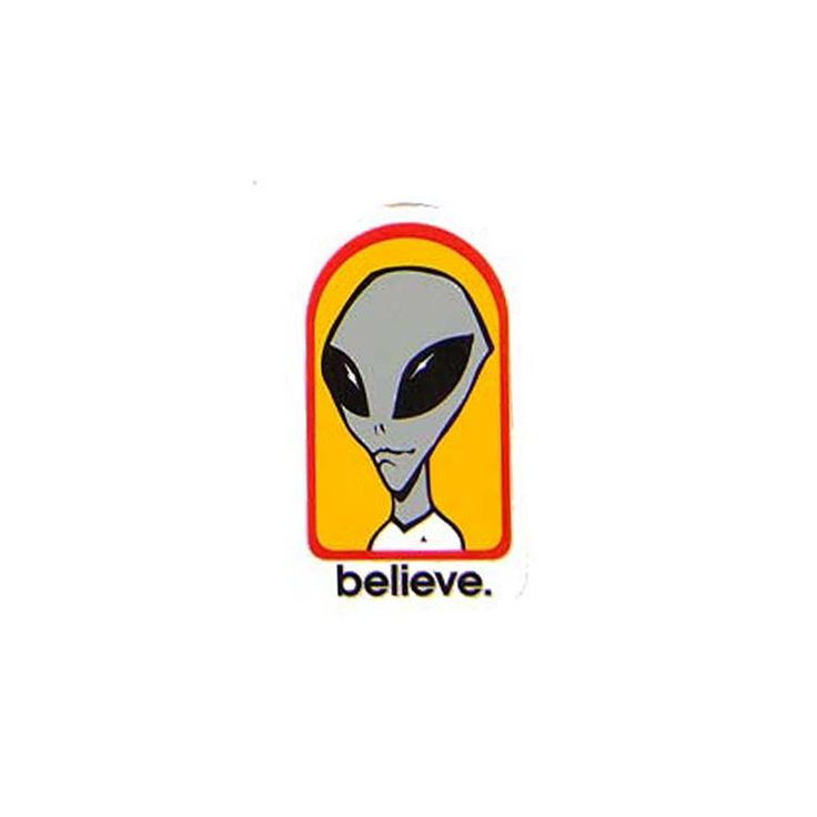 buy Alien Workshop Believe Sticker at the Skateboard shop in The Hague, Netherlands