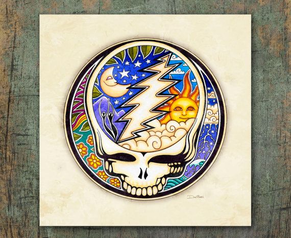 "• ""Night and Day Steal Your Face"" is a signed print of the original illustration by artist Dan Morris.     It is produced as stickers, patches, and T-Shirts and licensed with the Grateful Dead.      Dan Morris is known for his stylized, realistic illustration and use of bold colors.   Brighten up any wall space in your home or office with this stunning art print hand signed by the artist.    • Premium  Heavyweight Fine Art matte paper, acid free, and printed with Archival inks.    • Signed…"