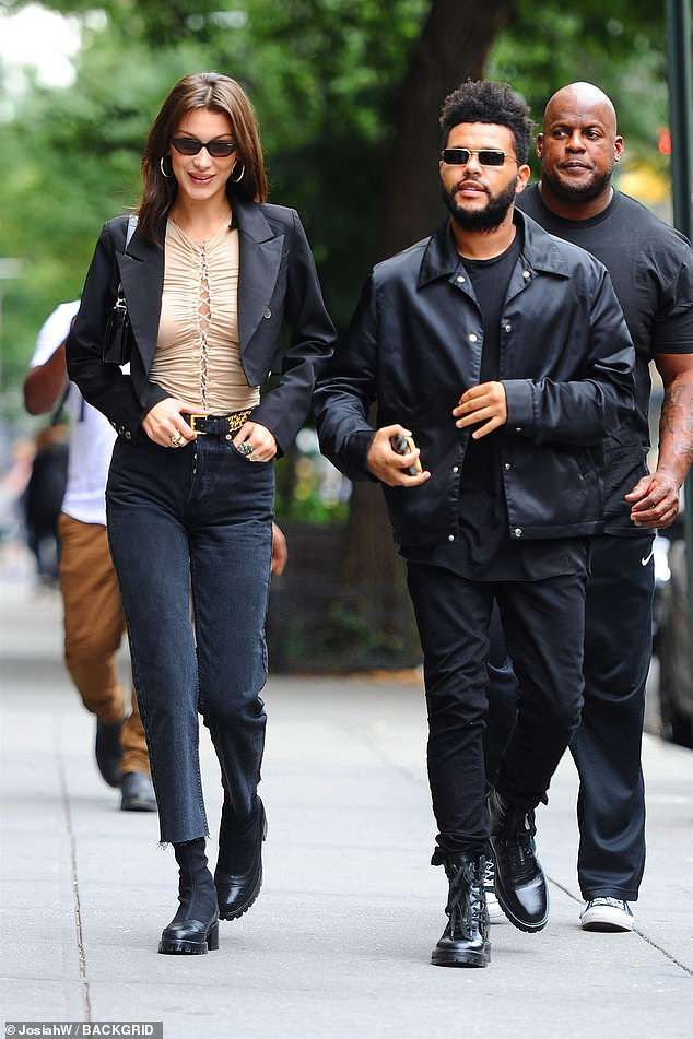 2fad6c0a88 Be like Bella and step out in black boots #DailyMail Click 'Visit' to buy  now #bellahadid #nicolesaldana #celebstyle #fashion