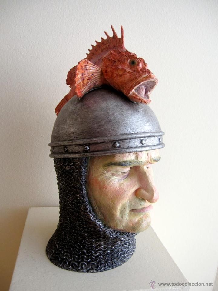 Escultura figurativa contemporánea retrato busto Rey Jaime Gerard Mas / Arte contemporáneo en todocoleccion