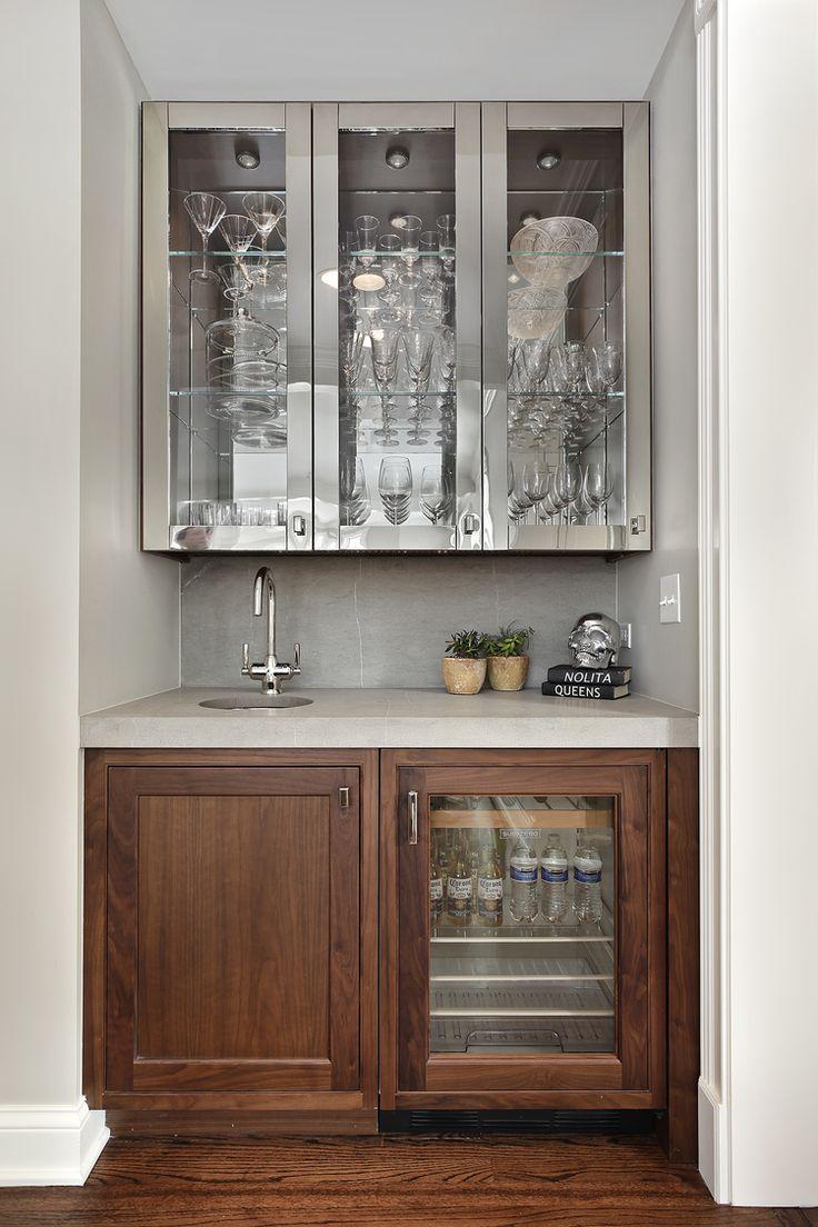 191 best bars basements images on pinterest bar cart - Built in bar cabinets ...