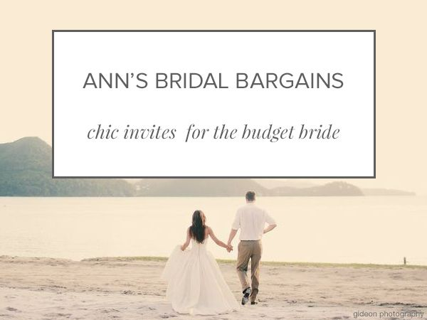 Shop gorgeous budget wedding invitations from Ann's Bridal Bargains - Wedding Party
