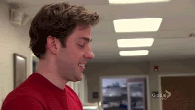Pin for Later: 44 Reasons Jim Halpert Will Forever Be Your Dream Guy He Has a Contagious Happy-Cry