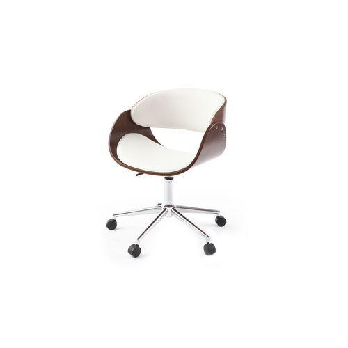 Miliboo Chaise Design Roulettes Blanche Et Noyer Bent Bureaux