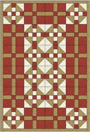 The Grandmothers Choice quilt uses 2 different blocks to make a delightful quilt that could be for a male or a female depending on your colour choices