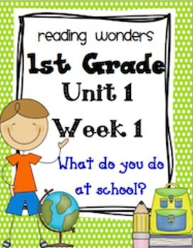Free! Reading Wonders ***To be used along with the Reading Wonders Series*** Resources 1st Grade