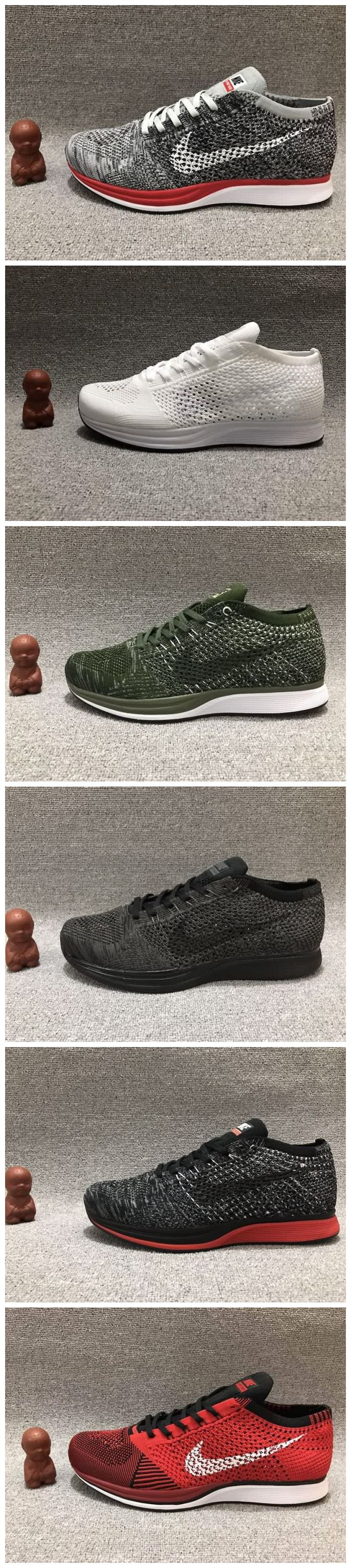 Cheap Nike Flyknit Racer 2017 Unisex shoes Grey Red&All White&Army Free Shipping WhatsApp:8613328373859