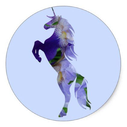 #floral - #Unicorn Classic Round Sticker Glossy Classic Round Sticker