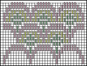 The Crowded Theatre Decorative Stitch Diagram 3