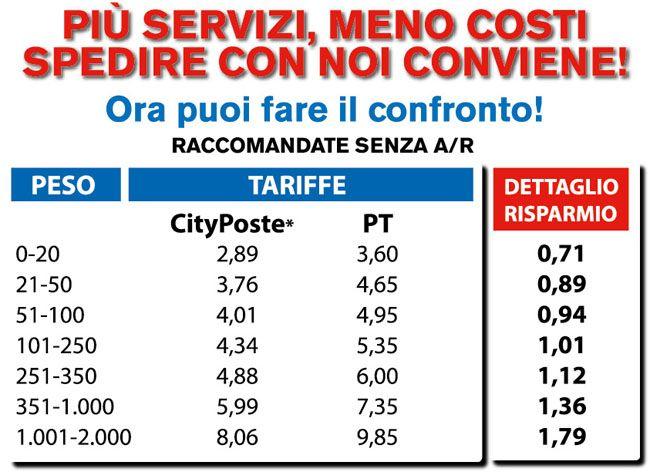 POSTALIZZAZIONE La Sofi Express è anche agenzia di riferimento della City Poste, rete di franchising di servizi postali.  Perchè pagare di più? Ora puoi scegliere! Raccomnadate e Raccomandate AR Posta Semplice (omologa della posta prioritaria di Poste Italiane) Posta Massiva (omologa della posta massiva di Poste Italiane).