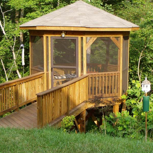 17 best images about screened in porch on pinterest for Garden decking with gazebo