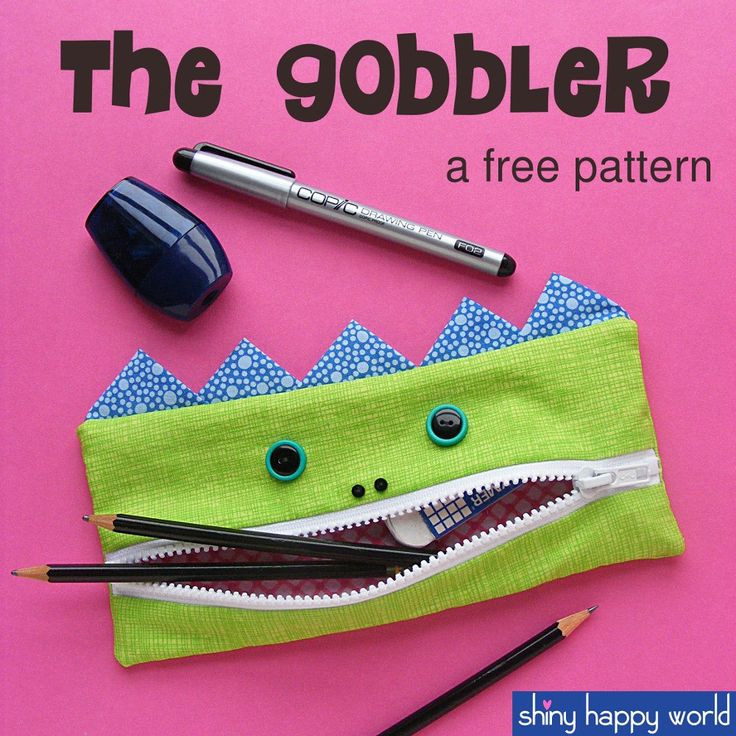 Gobbler - free pencil case pattern