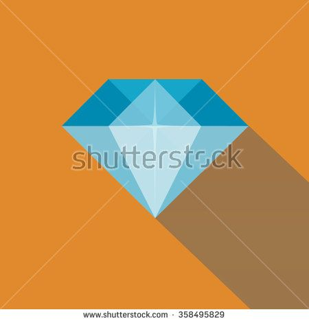 Diamond in Flat Style