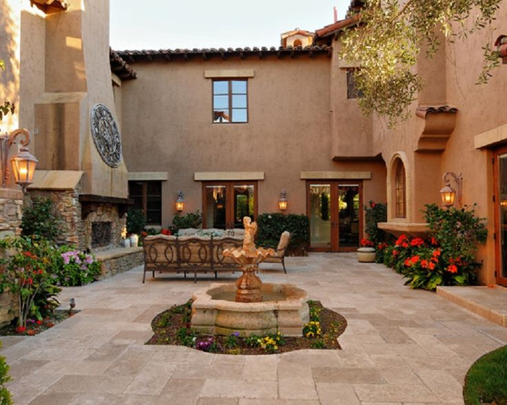 selection spanish style for your garden patio design best patio courtyard