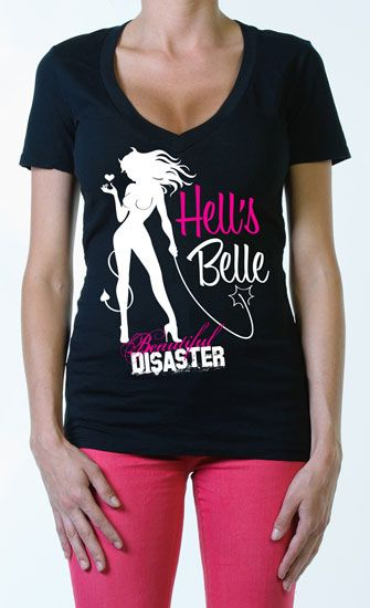 Hell's Belle womens v neck tee|SubCulture Clothing Store