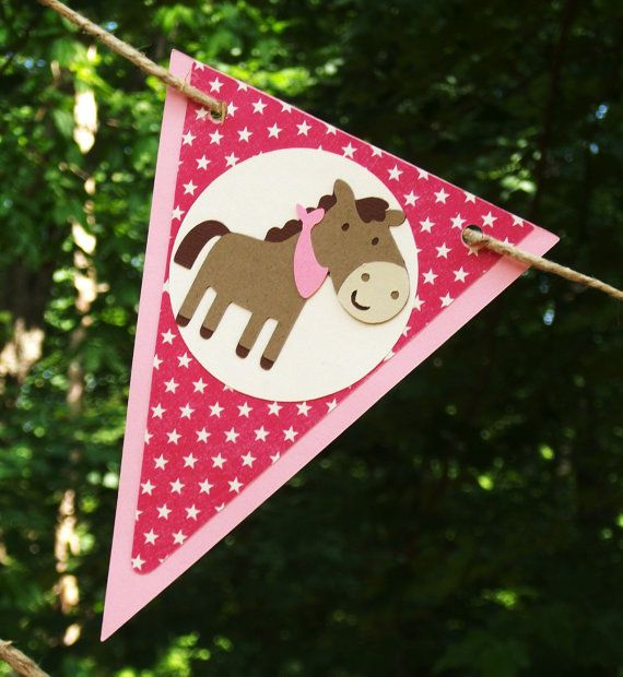 Pony Cowgirl Western Themed Happy Birthday by APaperPlayground, $23.00