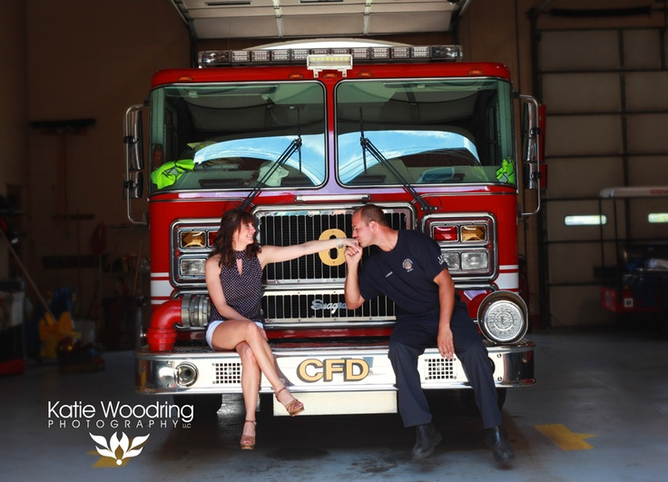 Katie Woodring Photography,  Firefighter, engagement  firefighter, wedding  firefighter, love  Covington, KY fire department