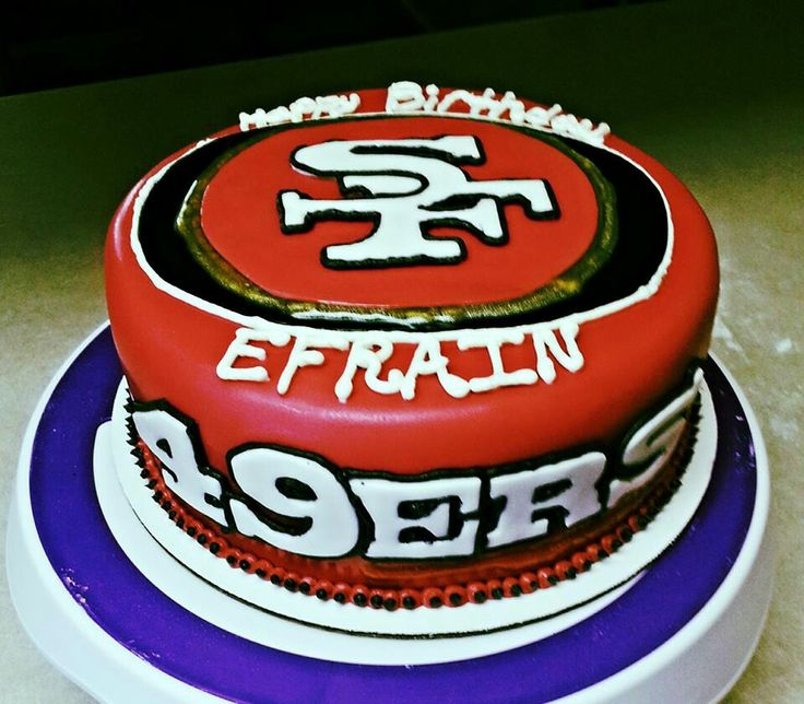 Birthday Cake Design San Francisco : 49ers cake All things Ayden Pinterest 49ers Cake and ...
