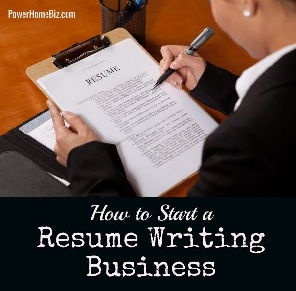 how to start a resume writing service business
