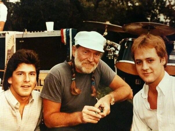 Hubby (on right) during a break in music video production with Willie! (1970's) http://ift.tt/2gCfoVh