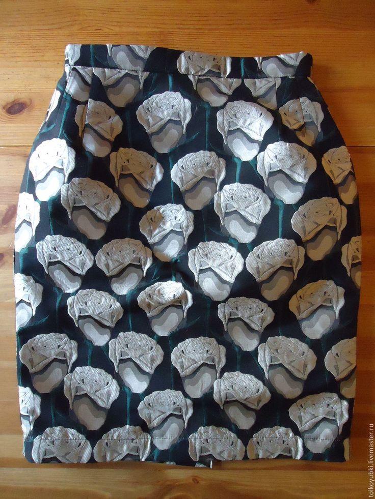 Купить Юбка Серебряные розы жаккард итальянский - цветочный, юбка из жаккарда, серебряный, юбки