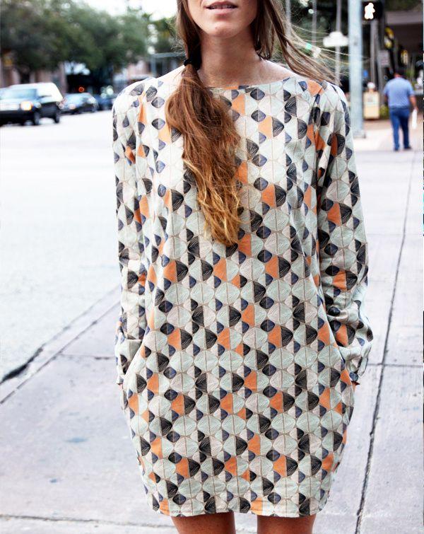 Leah Duncan Gramercy Fabric Burdastyle Shift Dress pattern