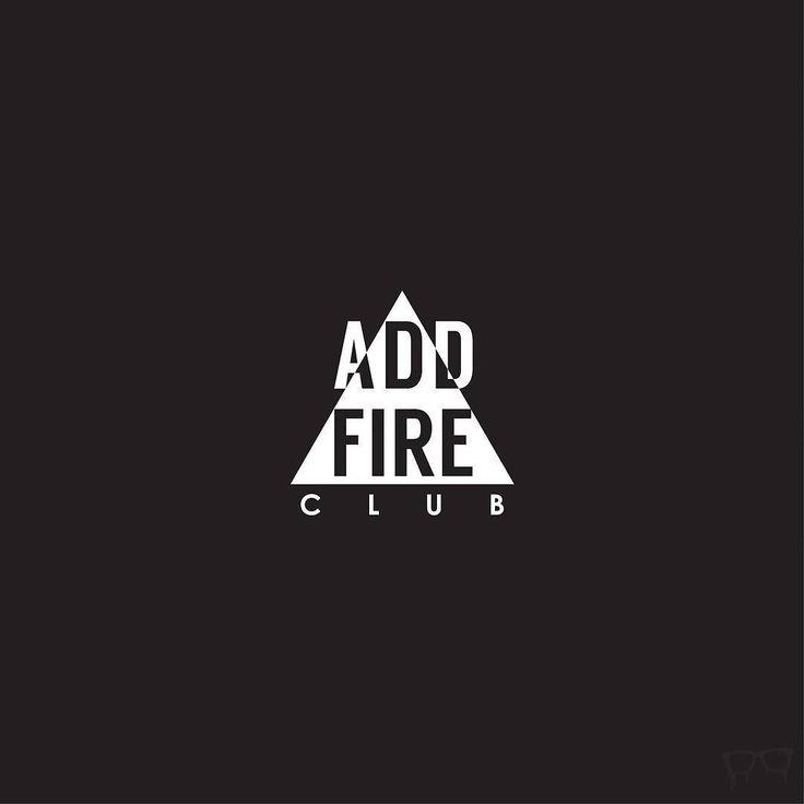 #mywork from 2014: #logo for #addfire #club #Bembureda #logomark #blackandwhite #graphicdesign #triangle #fire http://ift.tt/1OotltC
