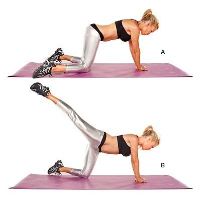 Single-leg kick: With this total-body workout from celebrity trainer Tracy Anderson, youll get fit and lose weight in no time.