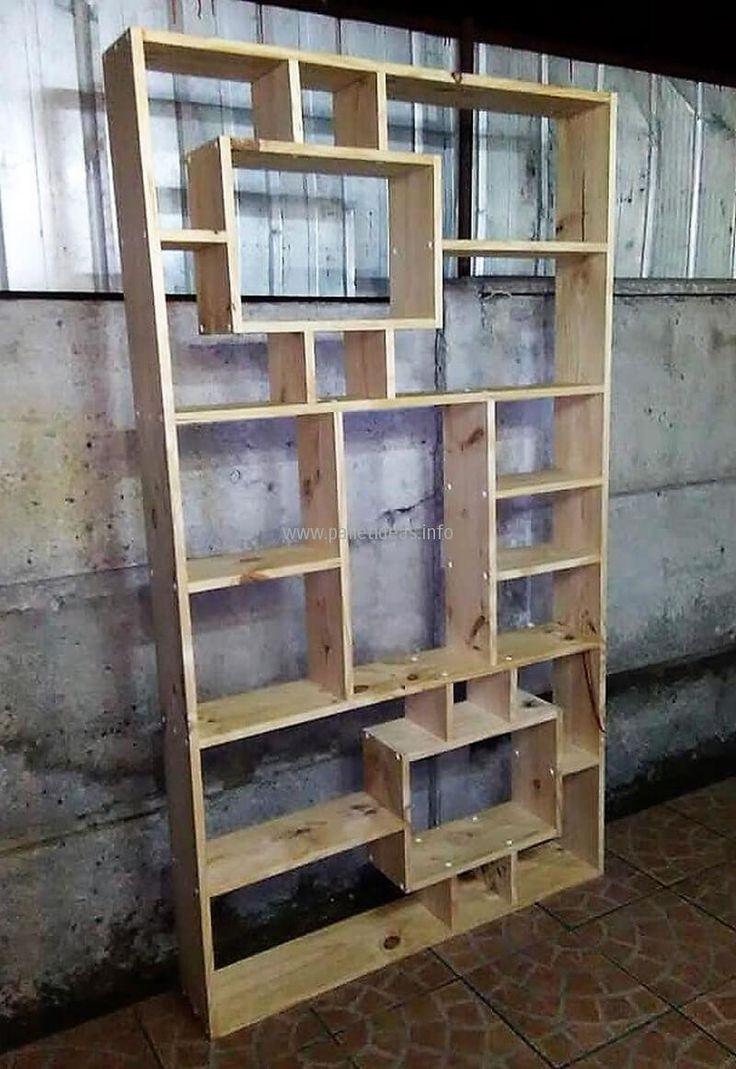 pallets made shelving wardrobe