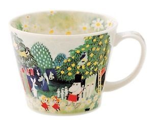 Moomin Valley Soup Mug Cup Yamaka Watercolor from Japan The Moomins