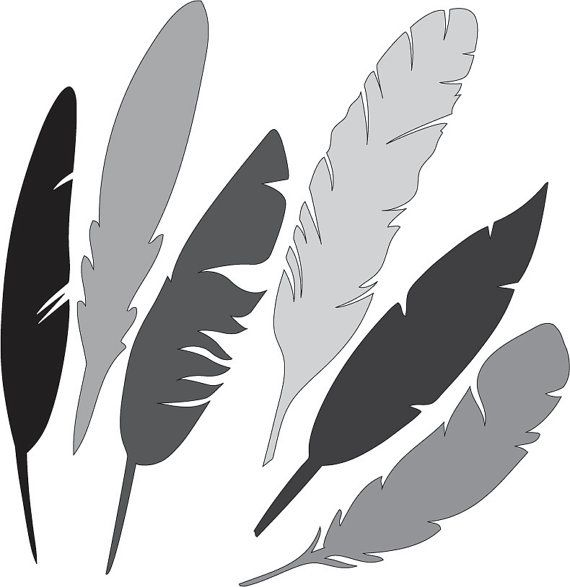 Feathers SVG File by HatchWork on Etsy
