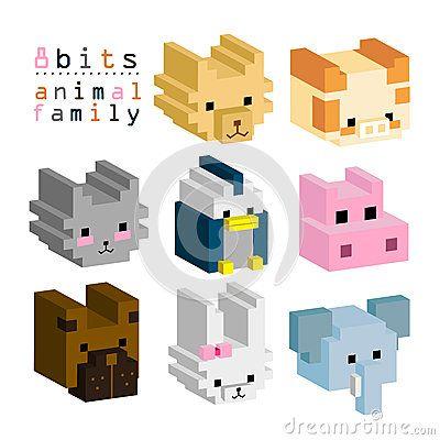 8BITs animal family 01