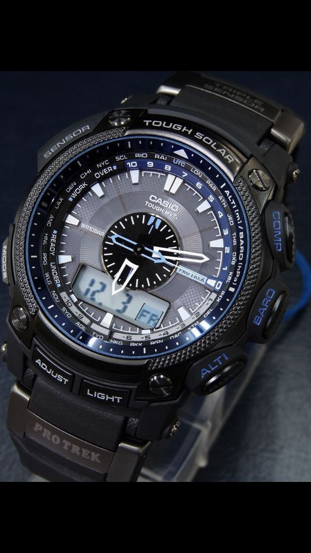 protrek line by casio has always been a serious