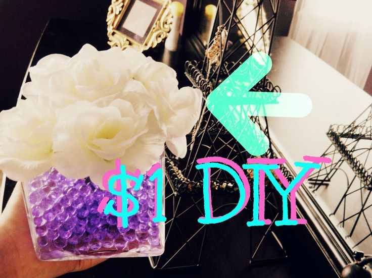 DIY: $1 Room Decoration Idea(CHEAP+EASY)Flower Vase! Cute Room Idea, Room Tour