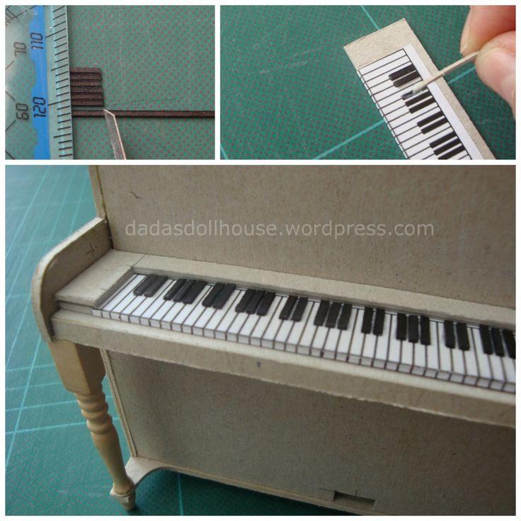 Miniature piano keyboard tutorial