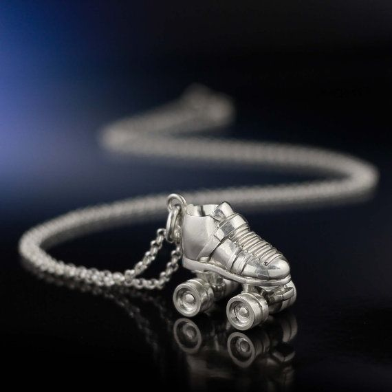 Silver Roller Derby Skate Necklace by LaurenGraceJewellery on Etsy, $130.00