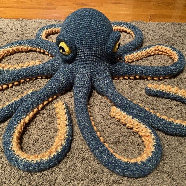 Apollo The Octopus Giant Crochet Pattern Easy To Follow Etsy In 2020 Octopus Crochet Pattern Easy Crochet Patterns Crochet Octopus