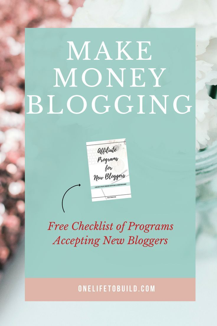 Looking for ways to monetize your blog as a new blogger?  Check out my list of programs accepting new bloggers just like YOU! |OneLifeToBuild.com|